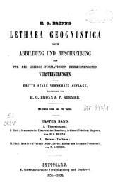 H.G. Bronn's Lethaea geognostica oder Abbildung und Beschreibung der für die Gebirgs - Formationen bezeichnendsten Versteinerungen: Übersichten. Palaeo-Lethaea