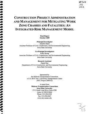 Construction Project Administration and Management for Mitigating Work Zone Crashes and Fatalities PDF