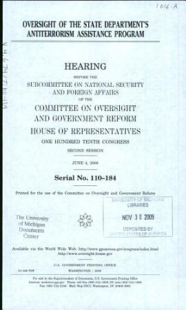 Oversight of the State Department s Antiterrorism Assistance Program PDF