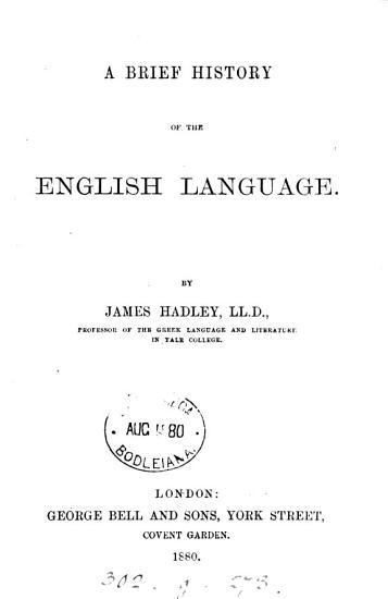 A Brief History of the English Language PDF
