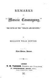 Works of Benjamin Wills Newton: Volume 12