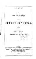 Authorised Report of the Church Congress PDF