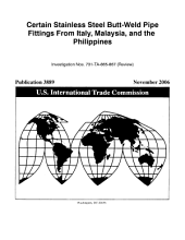 Certain Stainless Steel Butt Weld Pipe Fittings from Italy  Malaysia  and the Philippines  Invs  731 TA 865 867  Review  PDF