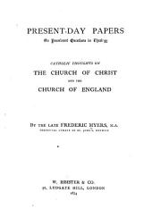 Catholic Thoughts on ...: book 1-2] The Church of Christ and the Church of England