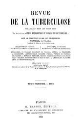 Revue de la tuberculose: Volume1