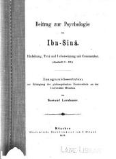 Beitrag zur Psychologie des Ibn-Sinâ