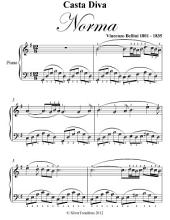 Casta Diva Norma Easy Piano Sheet Music