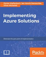 Implementing Azure Solutions PDF