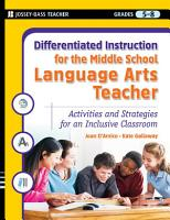 Differentiated Instruction for the Middle School Language Arts Teacher PDF