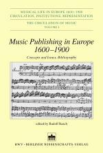 Music Publishing in Europe 1600-1900