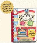 My Favorite Recipes Cookbook Book