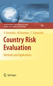 Country Risk Evaluation: Methods and Applications