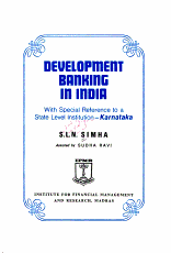 Development Banking in India  with Special Reference to a State Level Institution  Karnataka PDF