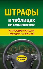 Штрафы в таблицах для автомобилистов. Классификация по видам нарушений. С изменениями на 2015 год