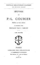 Oeuvres precedees d'une preface: Volume3