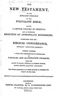 The New Testament of the English Version of the Polyglott Bible PDF