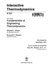 Fundamentals of Engineering Thermodynamics, Interactive Thermo 2.0 W/ User's Guide