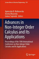 Advances in Non-Integer Order Calculus and Its Applications