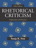 Rhetorical Criticism PDF