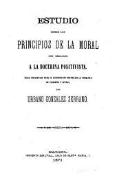 Estudio sobre los principios de la moral con relación a la doctrina positivista