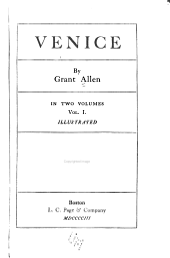 Venice: Volume 1