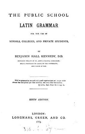 The Public School Latin Grammar PDF