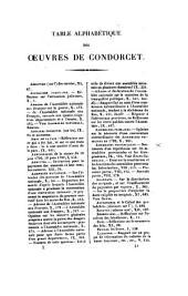 Oeuvres de Condorcet: Volume1