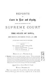 Reports of Cases in Law and Equity, Determined in the Supreme Court of the State of Iowa: Volume 53