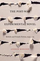 The Post War Experimental Novel PDF