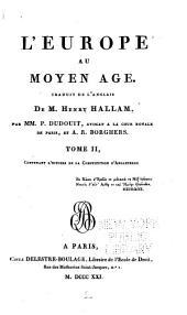 L'Europe au Moyen Age: Volume2