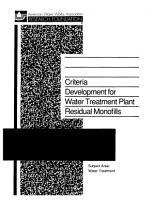 Criteria Development for Water Treatment Plant Residual Monofills PDF
