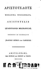 Aristotelis Quaestiones mechanicae