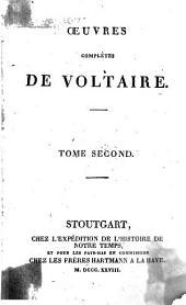 Œuvres complètes de Voltaire: Volume2
