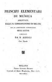 Principj elementari di musica: adottati dall'i R. Conservatorio di Milano