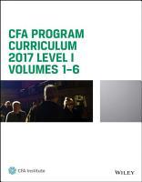 CFA Program Curriculum 2017 Level I PDF