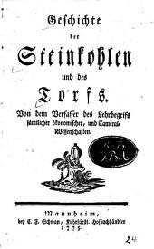 Geschichte der Steinkohlen und des Torfs