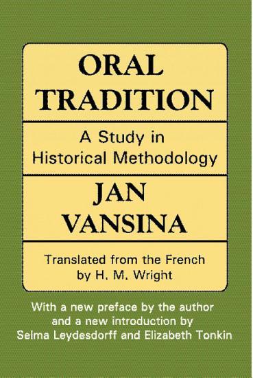 Oral Tradition PDF