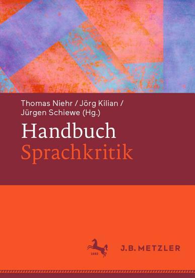 Handbuch Sprachkritik PDF