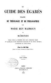 Le guide des égarés: traité de théologie et de philosophie, par Moïse ben Maimoun, dit Maïmonide, Volume3