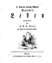 D. Friedrich Heinrich Wilhelm Martini's Leben