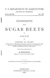 Experiments with Sugar Beets in 1893