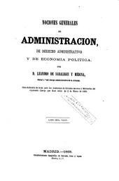 Nociones generales de administración de derecho administrativo y de economía política
