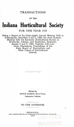 Transactions of the Indiana Horticultural Society for the Year     PDF