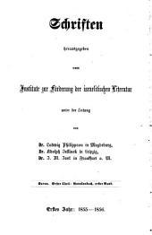 Saron: Gesammelte Dichtungen. Novellenbuch, Bände 1-2