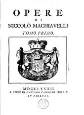Opere di Niccolò: Volume 1