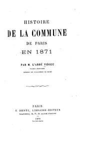 Histoire de la Commune de Paris en 1871
