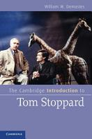 The Cambridge Introduction to Tom Stoppard PDF