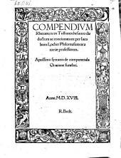 Compendium rhetorices ex Tulliano thesauro diductum ac concionatum et Syntaxis de componenda oratione funebre