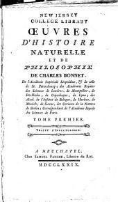 Œuvres d'histoire naturelle et de philosophie de Charles Bonnet ...: Traité d'insectologie