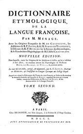Dictionnaire etymologique ... de la Langue françoise: Volume2